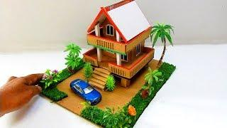 Cardboard Mansion House With Beautiful Garden DIY - Toys for Kids #49