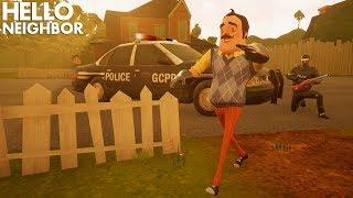 The Police Show Up TO THE NEIGHBOR'S HOUSE!!! (To Arrest Him?) | Hello Neighbor Gameplay (Mods)