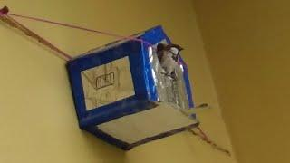 how to make birds house from cardboard/DIY  bird house/hand made bird home/nest from cardboard,