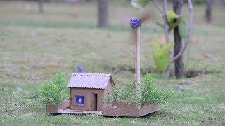 How to make a windmill house - Generator house - cardboard house