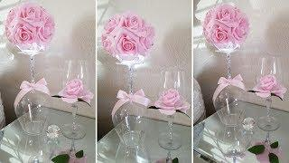 LIGHTED VALENTINE CENTERPIECE | ROMANTIC CENTERPIECE | INEXPENSIVE DIY | QUICK AND EASY DIY