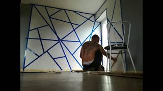 Emil i Sylwia remont 2018 geometric wall painting