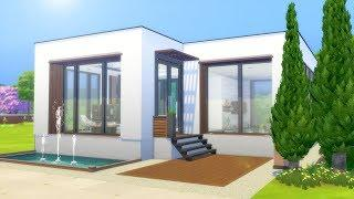 MODERN CUBE BEACH HOUSE // The Sims 4: Speed Build