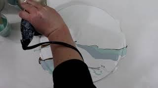 (267) Dutch Pour with Wall Paint, Fluid Art Technique