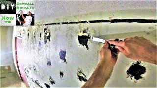 How to repair drywall after removing wall mirror- Fix torn drywall paper