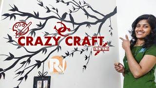 Wall Painting (Tree Branch) - Crazy Craft Raining Voice DIY #1