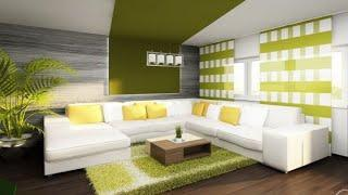 Green home color ideas Interior wall decoration trends 2019
