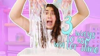 3 WAYS TO USE WATER SLIMES ~ HOW TO MAKE THE BEST WATER SLIMES ~ Slimeatory #397