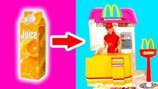 DIY Barbie Miniature Dollhouse Rooms | How To Make Barbie Doll House | Hacks and Crafts for Barbie