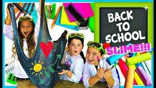 DIY Back To School CHALKBOARD SLIME!!  Learn How to Make the Coolest #Slime for Back for School!