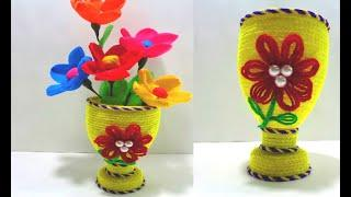 How to Make Beautiful Flower Vase - DIY Best Out Of Waste Idea Using Plastic Bottle