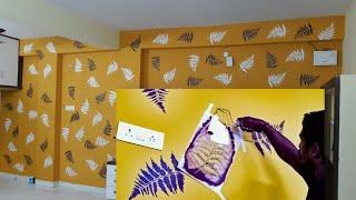 Wall decor ideas stencil art painting