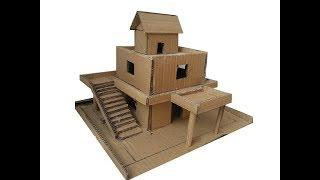 How to make a simple cardboard house for a school project part 1