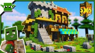 Small Minecraft Fortified House Tutorial (5x5 Building System)
