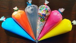 Making Slime Piping Bags - Crunchy Slime #11