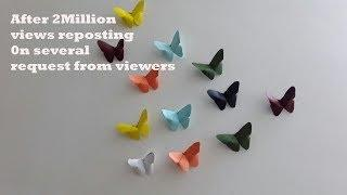 Paper craft ,How to make butterfly to decorate your house or for your kids project.