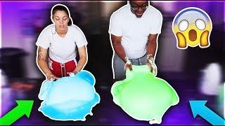 MAKING GIANT SLIME BUBBLES WITH SCHOOL GLUE & 1 GALLON OF CRAZY ART NICKELODEON SLIME