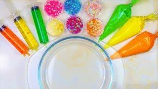 Making Slime With Piping Bags and Syringes - Oddly Satisfying Slime Video.