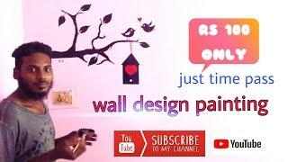 wall design painting with my bro vicky and Dhinesh