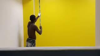 How to paint a high wall