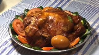 CNY recipes - Braised chicken (soy sauce chicken) with rose rice wine 玫瑰露卤鸡 (鼓油鸡)