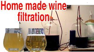 filter Home made Wines  वाईन को फिल्टर कैसे करें don't Drink yeast mix Wine first Filter it