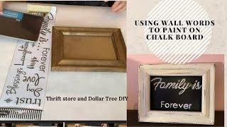 How to use Wall Words to paint on Chalk Board | Chalk board rechangable sign