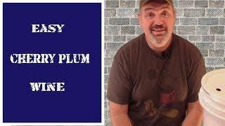 Easy Cherry Plum Wine at Home