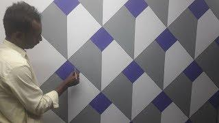 3d wall texture new design ideas | 3d wall painting | 3d wall decoration effect | interior design