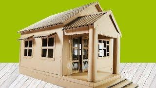 How To Make A Cardboard House, Easy and Simple Crafts