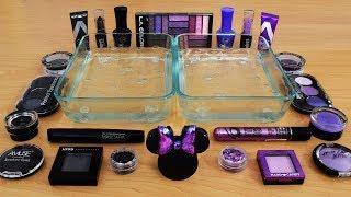 Mixing Makeup Eyeshadow Into Slime ! Black vs Purple Special Series Part 27 Satisfying Slime Video