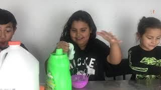 TEACHING MY FRIEND lil Sister How To Make Slime