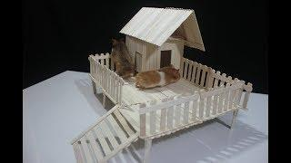 How To Make Popsicle Stick House For Hamster - Stick House