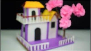 DIY Beautiful paper house || How to make a small paper house