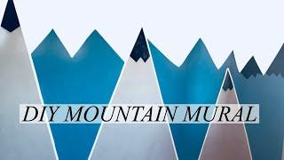 HOW TO PAINT A MOUNTAIN WALL MURAL ||DIY MOUNTAIN MURAL