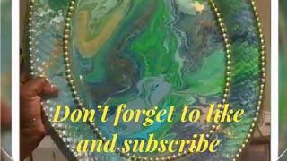 DIY  Wall Decor Dirty Pour Paint. Creating  Elegance for Less With Faithlyn McKenzie 2018