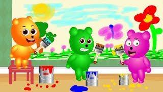 Gummy Bear painting the wall ???? Children's cartoons & Nursery Rhymes