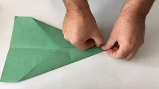 How to make a quick paper Origami Plane in 2 mins