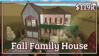 Bloxburg - Fall Family House Speed-build