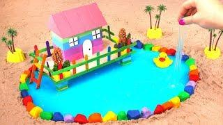 How To Make Garden House with Kinetic Sand And A Slime Pool ???? DIY ???? How To Make For Kids