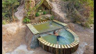 How to Build Two  Beautiful Swimming Pool with  Underground House #Primitive_Copy