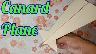 How to make a best paper Airplanes that fly far - easy, basic, simple | canard plane | plane#5