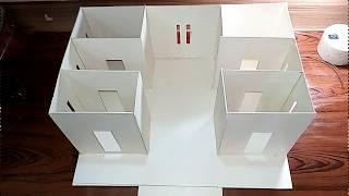 How to make a Beautiful  House From PVC Cardboard With LEDs Light - Dream House
