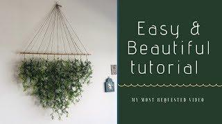 DIY Floral Hanging Wall Art | How I made it + better ideas
