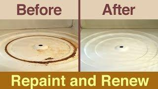 How to repaint inside your microwave - fix rust and peeling