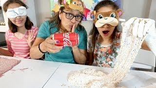 Mom CHEATED On Sophia & Sarah BLINDFOLDED Slime Challenge!!
