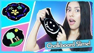 DIY CHALKBOARD SLIME! - Super Easy! How to Make Chalkboard Slime!