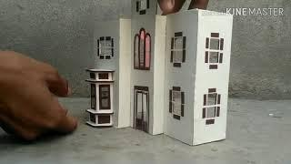 How to make house with paper and cardboard