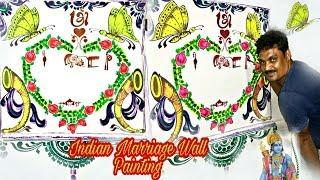 Marriage Painting on Wall and Indian marriage wall painting