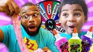DAD VS SON MYSTERY OF SLIME SWITCH UP CHALLENGE!